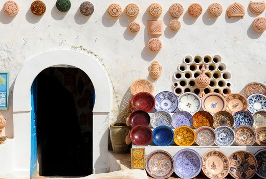 Stock Photo: 4292R-149128 South of Tunisia, Djerba,a ceramics shop