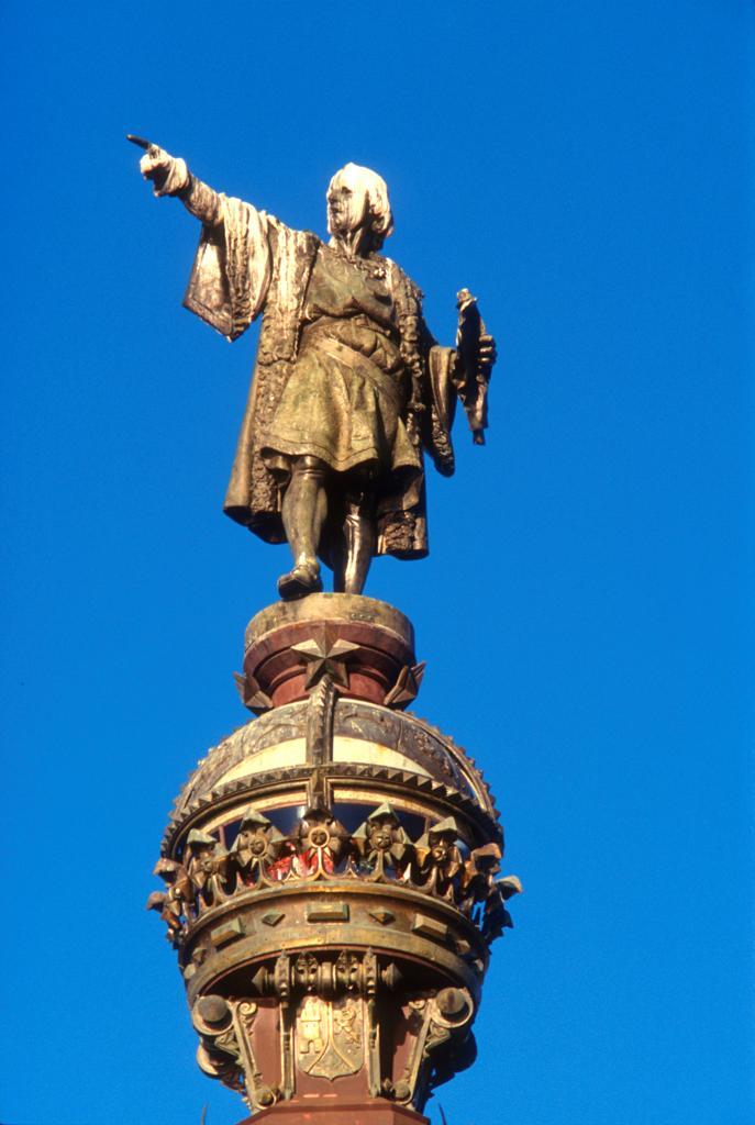 Stock Photo: 4292R-149357 Spain, Barcelona, Columbus monument