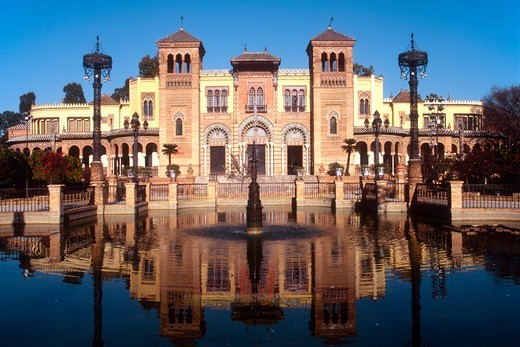 Stock Photo: 4292R-149382 Spain, Andalusia, Seville, Pabellon Mudejar