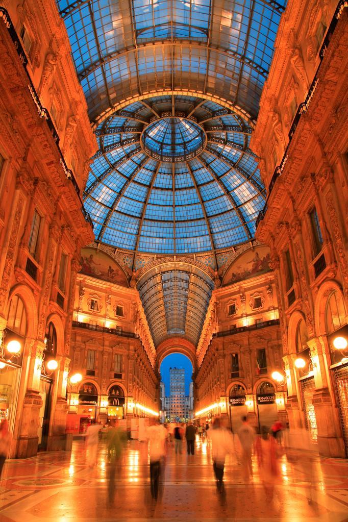 Italy, Lombardy, Milan, Vittorio Emanuele Gallery : Stock Photo