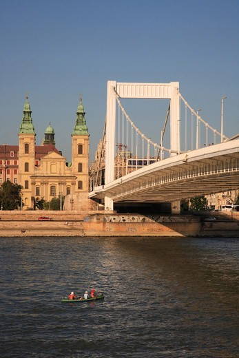 Hungary, Budapest, Elizabeth bridge : Stock Photo
