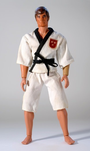 Stock Photo: 4292R-150707 Toy human figure wearing gi