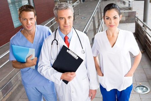 Stock Photo: 4294R-1458 Smiling healthcare workers
