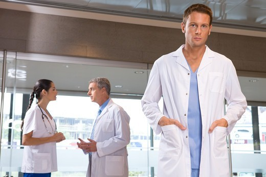 Young doctor in hospital : Stock Photo
