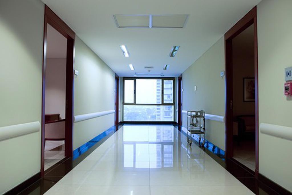 Stock Photo: 4294R-1504 Hospital corridor