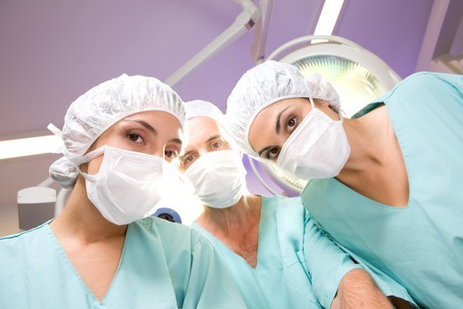 Stock Photo: 4294R-1544 Surgeons at work