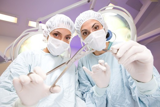 Stock Photo: 4294R-1549 Surgeons at work