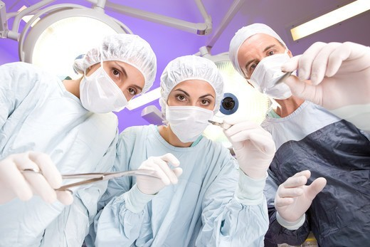Stock Photo: 4294R-1550 Surgeons at work