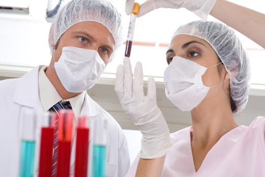 Stock Photo: 4294R-1571 Laboratory technicians at work