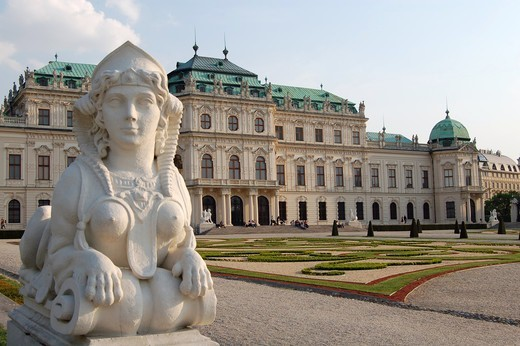 Stock Photo: 43-5445635 Austria, Vienna, Belvedere, Sphinx