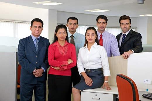 Stock Photo: 4303R-2368 Group of businesspeople looking at the camera, portrait