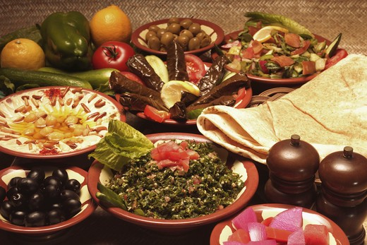 Spread of food from the Middle east : Stock Photo