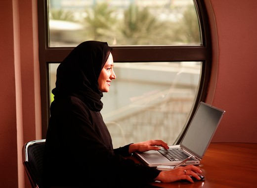 Stock Photo: 4304R-1640 Businesswoman on the computer