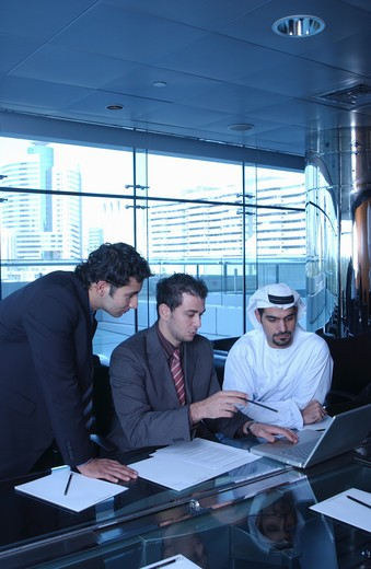 Stock Photo: 4304R-1908 Arab Business people busy on discussion inside the office.