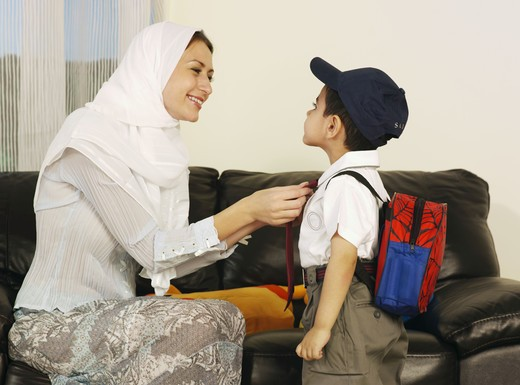 Stock Photo: 4304R-2131 Mother and Son