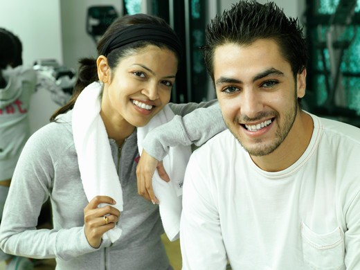 Stock Photo: 4304R-2492 Young adult at the gym.
