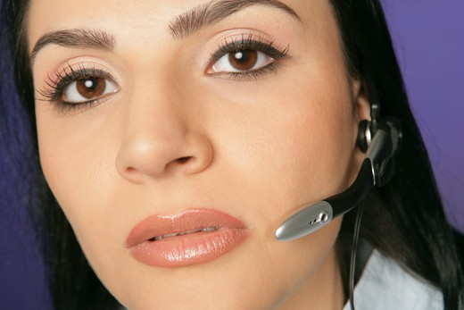 Stock Photo: 4304R-2678 Lady with a headset.