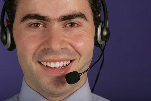 Stock Photo: 4304R-2769 Businessman with headset.