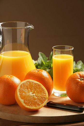 Glass of fresh orange juice : Stock Photo