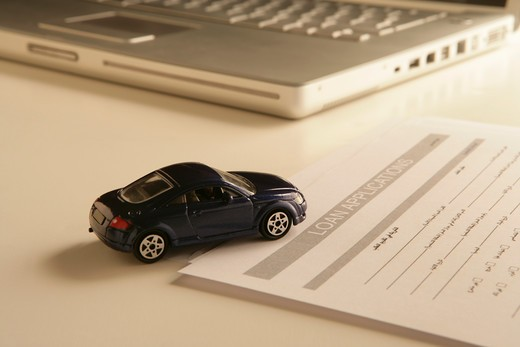 Car Loan Application Processing : Stock Photo