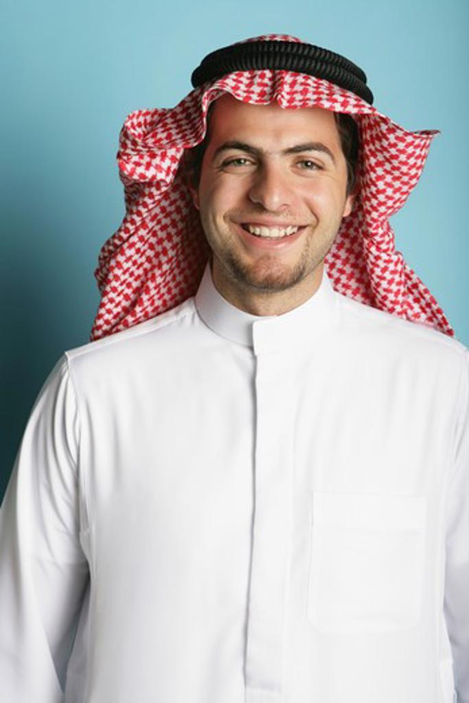 Stock Photo: 4304R-3642 Arab Man smiling