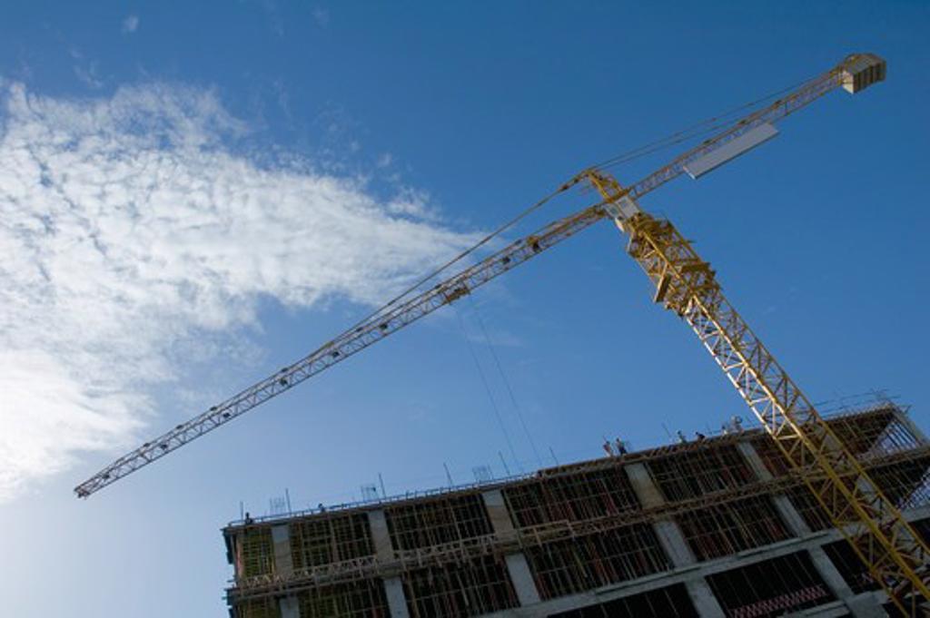 Stock Photo: 4304R-4227 Construction crane