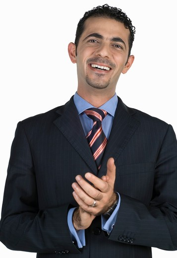 Businessman clapping : Stock Photo