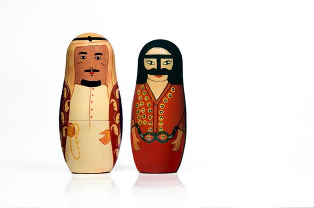 Stock Photo: 4304R-7778 Pair of Arabian matryoshka dolls