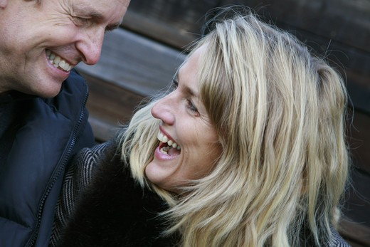 Stock Photo: 4306R-11704 A laughing couple, Sweden.