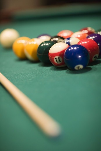 Stock Photo: 4306R-11924 Pocket billiards.