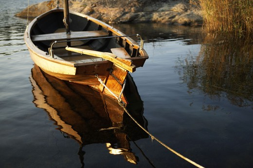 Stock Photo: 4306R-12792 A wooden boat, Sweden.