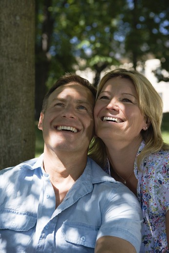 A smiling couple, Stockholm, Sweden. : Stock Photo