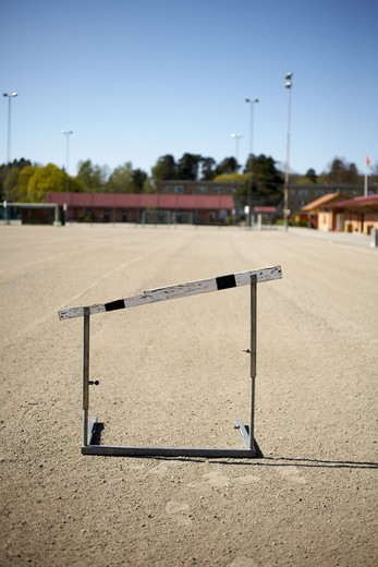 Stock Photo: 4306R-13029 A hurdle pointing upwards, Stockholm, Sweden.