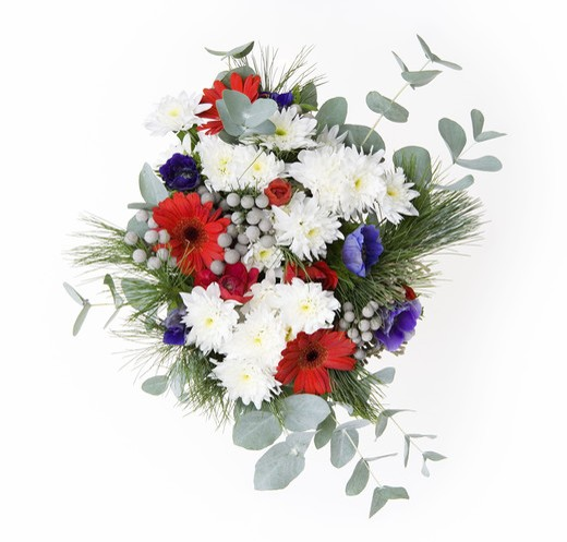 Stock Photo: 4306R-13334 A bunch of flowers, Sweden.