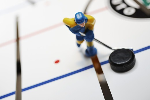 Stock Photo: 4306R-13433 Ice hockey game, Sweden vs Finland, Close-up.