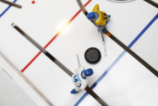 Stock Photo: 4306R-13435 Ice hockey game, Sweden vs Finland, Close-up.