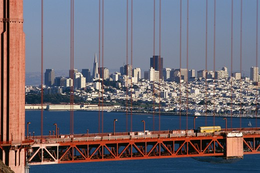 Stock Photo: 4306R-13587 The Golden Gate Bridge, San Francisco, USA.
