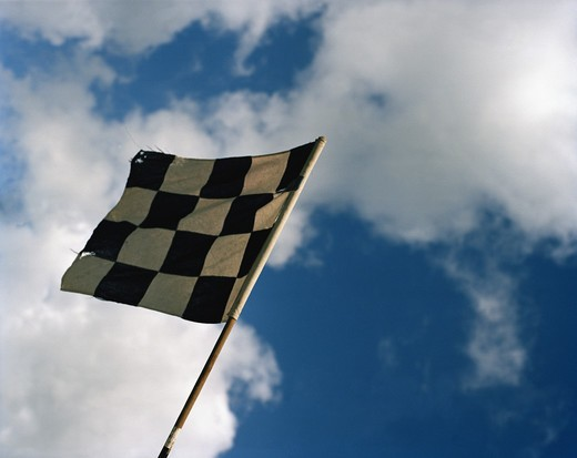 Racingflag, Astorp, Sweden. : Stock Photo