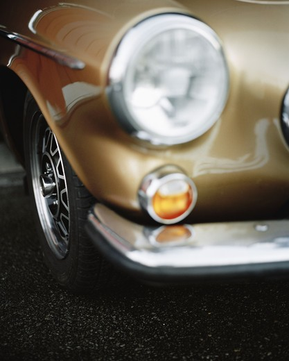 Stock Photo: 4306R-14445 Detail of a Volvo P 1800, Sweden.