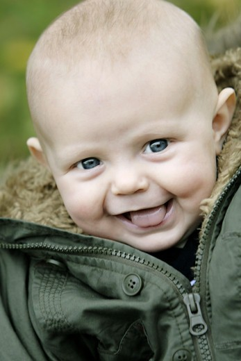 Portrait of a baby, Sweden. : Stock Photo
