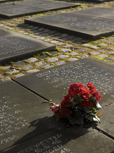 Stock Photo: 4306R-16067 Gravestones in a churchyard, Copenhagen, Denmark.