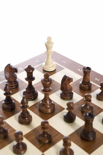 Stock Photo: 4306R-17471 A game of chess, Sweden.