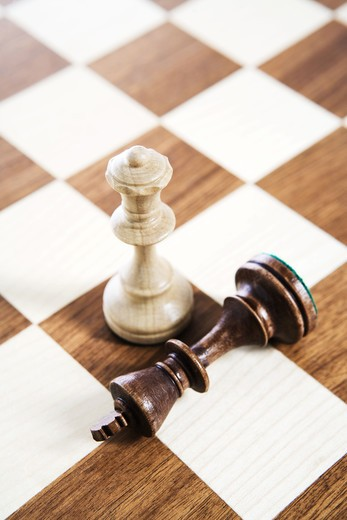 Stock Photo: 4306R-17480 A game of chess, Sweden.
