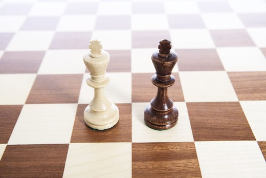 Stock Photo: 4306R-17483 A game of chess, Sweden.