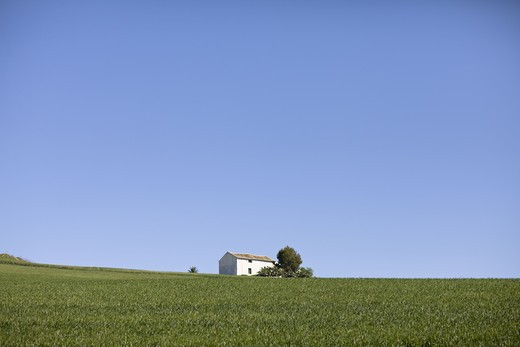 Stock Photo: 4306R-17664 A white house against blue sky, Andalusia, Spain.