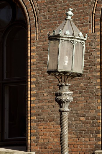 Stock Photo: 4306R-18271 A street lamp, Copenhagen, Denmark.