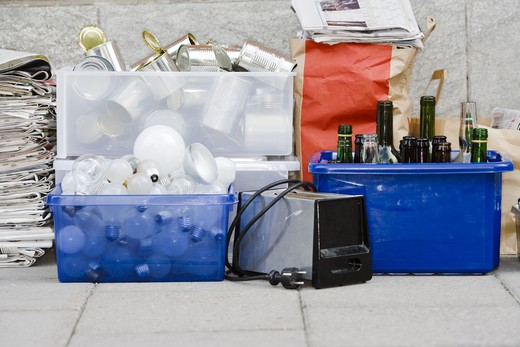 Stock Photo: 4306R-20934 Domestic refuse, Sweden.