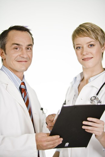 Stock Photo: 4306R-21711 Two doctors, Sweden.