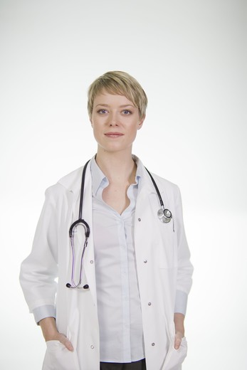 Stock Photo: 4306R-21725 Portrait of a female doctor, Sweden.