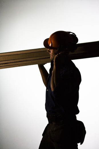 Stock Photo: 4306R-22076 A construction worker.